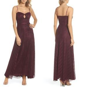 NEW JILL STEWART Eliza Lace Cutout Front Slip Gown